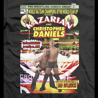 Christopher Daniels & Kazarian Comic Cover T-shirt