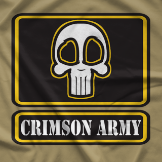 Crimson Army Patch T-shirt