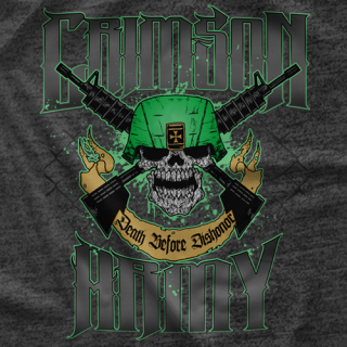 Crimson Death Before Dishonor T-shirt