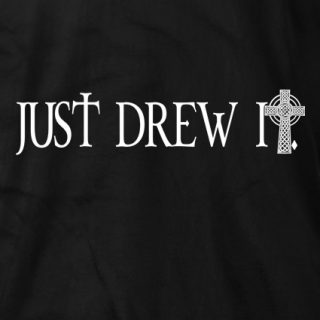 Just Drew It Cross T-shirt
