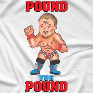 Dynamite Kid Pound For Pound (White) T-shirt