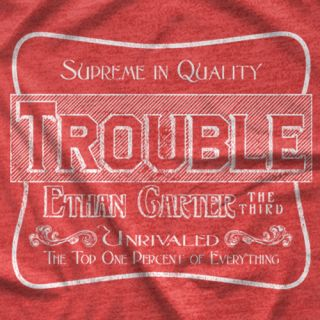 "- Clotheslined Apparel - Vintage Blend Soft T-shirt EC3 ""Trouble"""