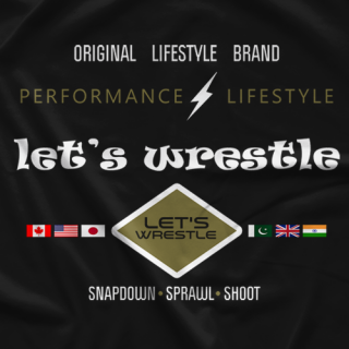 World Tour Let's Wrestle T-shirt