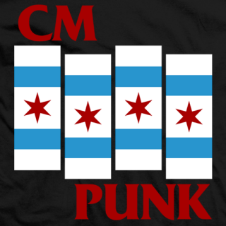 CM Punk Punk Flag T-shirt
