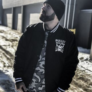 Bullet Club Retro Style Satin Bomber Jacket by Chalk Line