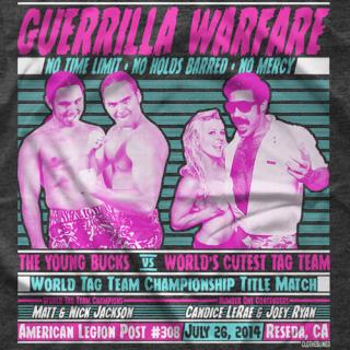 "- Clotheslined Apparel - Vintage Blend Soft T-shirt Clotheslined ""Guerrilla Warfare"""