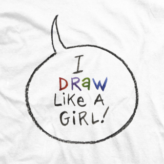 Draw Like A Girl Word Balloon