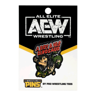 Jurassic Express - A Boy & His Dinosaur Wrestling Pin