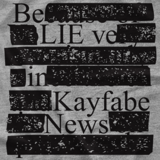 Kayfabe News Redacted! T-shirt