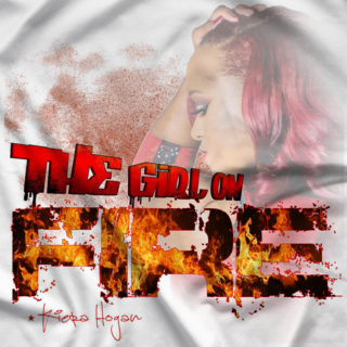 Girl On Fire White T-shirt