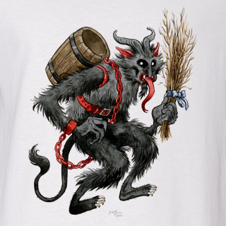 Krampus Baseball Tee