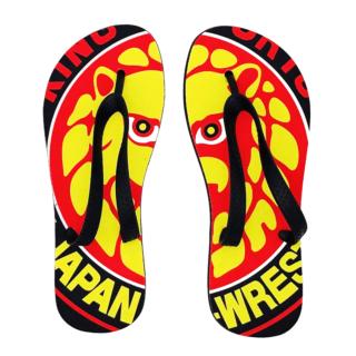 NJPW Lion Mark All Over Print Flip Flops