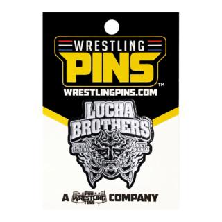Lucha Bros - White Mask Pin
