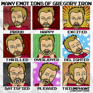 Many Emotions of Gregory Iron