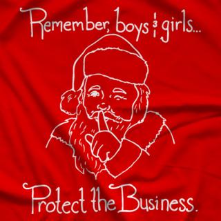 Marty & Sarah Love Wrestling Santa T-shirt