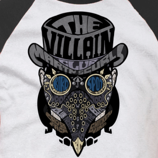 Face Villain Baseball Tee