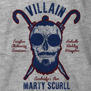 Scurll and Crossbones Grey