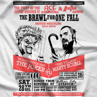 Marty Scurll Villain vs Joker T-shirt