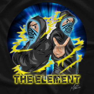 The Element - Charged Up! Black T-shirt