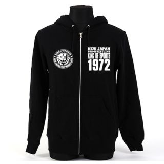 Lion Mark Zip Hooded Sweatshirt