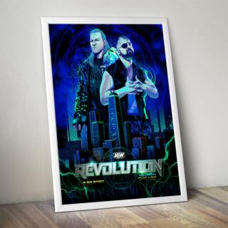 Official AEW Commemorative Revolution Poster