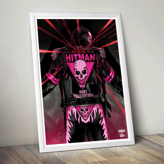 "Bret ""The Hitman"" Hart Poster (Limited Edition 200 Prints)"