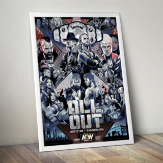 Official AEW Commemorative ALL OUT Poster