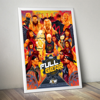 Official AEW Commemorative Full Gear Poster