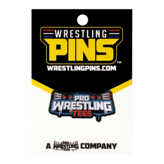 Pro Wrestling Tees Spray Logo Wrestling Pin