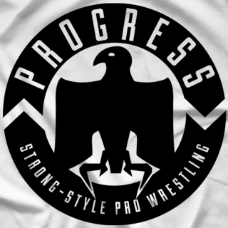 PROGRESS Wrestling Classic Logo - White T-Shirt