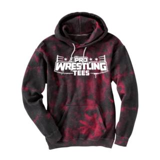 PWTees Spray Logo Black and Red Hoodie