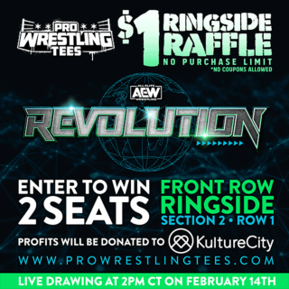 Revolution Ringside Raffle - 2 Front Row Seats - Only $1 Per Ticket