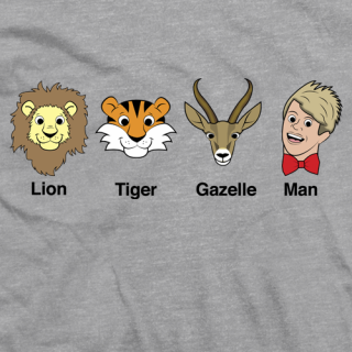 Lion Tiger Gazelle Man T-shirt
