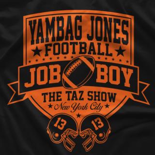 "- Clotheslined Apparel - Vintage Blend Soft T-shirt The Taz Show ""Yambag Jones"""