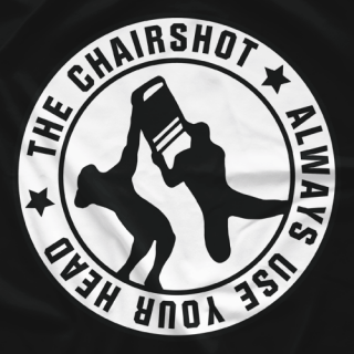 Chairshot Logo (White On Black)
