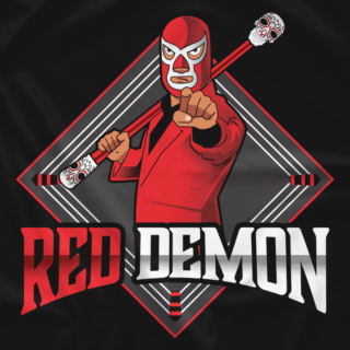 Red Demon Cartoon Logo