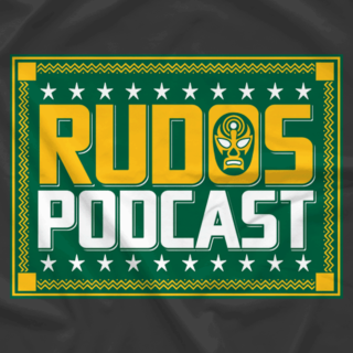 Rudos Podcast Text Logo with Mask