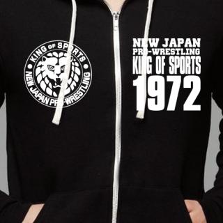 Lion Mark Zip Hooded Sweatshirt