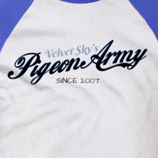 Velvet Sky Pigeon Army T-shirt