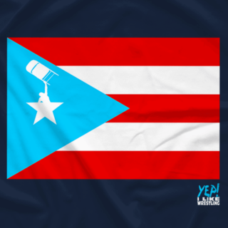Wrestling, With Pride - Flag of Puerto Rico - YEP! I Like Wrestling