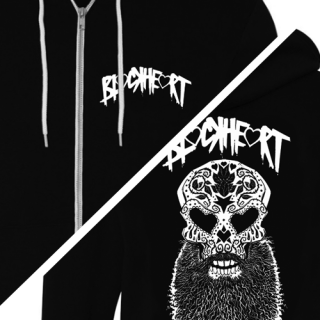 Blackheart Zip Hooded Sweatshirt
