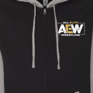 AEW Logo Premium Varsity Zip Hoodie