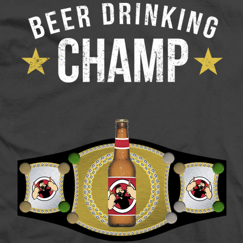 Beer Drinking Champ T-shirt
