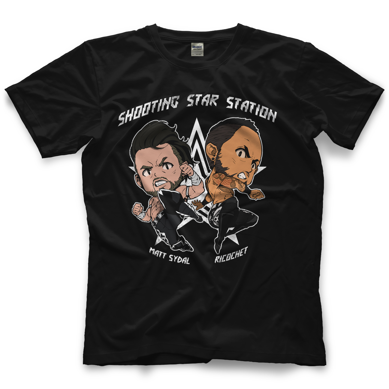 Matt Sydal and Ricochet Shooting Star Station T-shirt