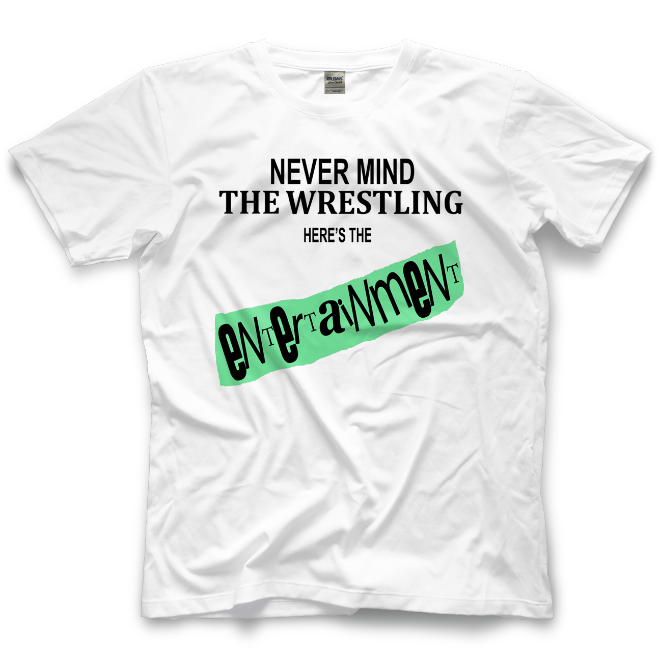 Never Mind The Wrestling (White)