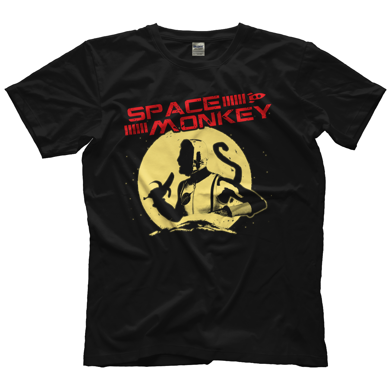 Space Monkey Full Moon T-shirt