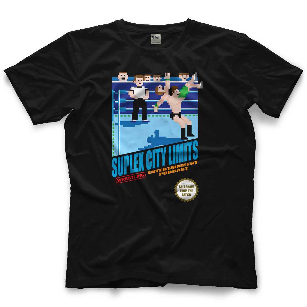 Suplex City Limits SCL 8-Bit T-shirt